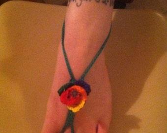 Barefoot Sandal - Rainbow