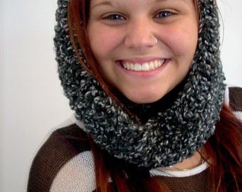 cowl neck collar scarf and hoodette