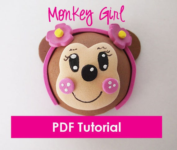 Foam Monkey Girl - Mini Fofucha - PDF Tutorial & Template