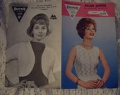 Original Bestway Knitting Pattern no3335, Ladies jumper and ladies bolero.