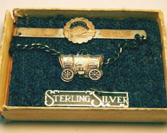 Deming New Mexico Wagon Sterling Pin