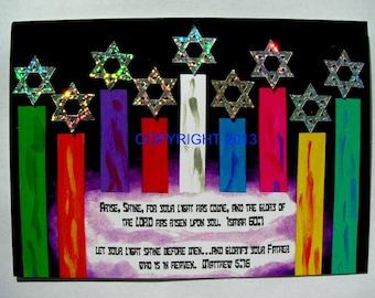 4 Messianic Chanukah cards