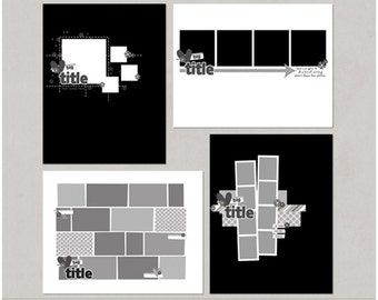 Sample Pack 31 - 8.5x11 Digital Scrapbooking Templates