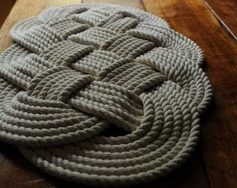 Nautical Decor - Cotton Rope - Bath Mat - (29 x 16)