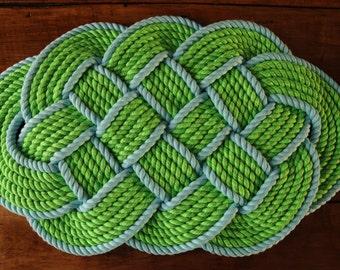 Nautical Decor - Rope Rug - Nautical Bath Mat - Nautical Gift - Cotton Bath Mat - (29 x 18)