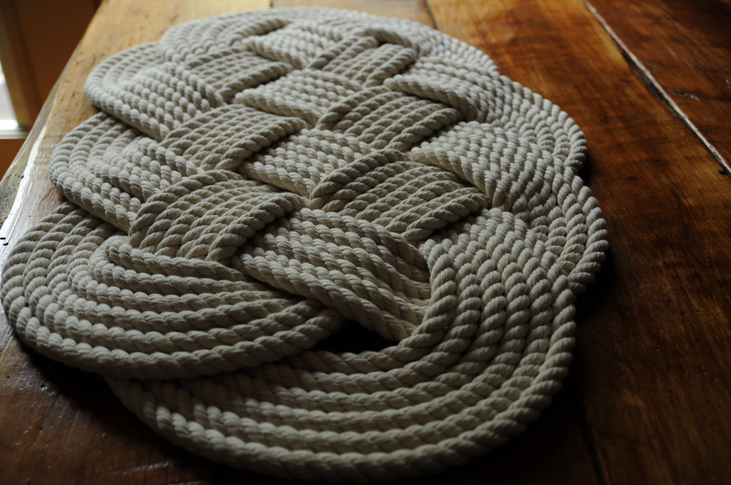 nautical decor cotton rope bath mat 29 x 16