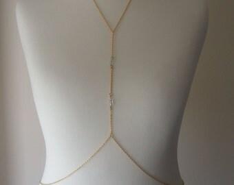 Gold Body Harness, Body Chain
