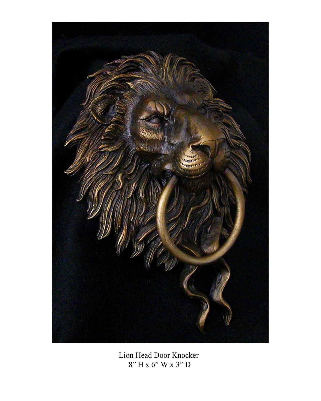 Lion head door knocker - Lion face door knocker ...