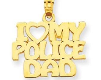 I Love My Police Dad Charm (JC-765)