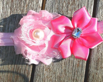 Girll Headband, Pink Baby Girl, Newborn, Toddler, Cute, Pretty Head band