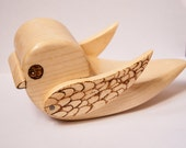 Hidden Drawer Budgie Bird box folding wing wood burned