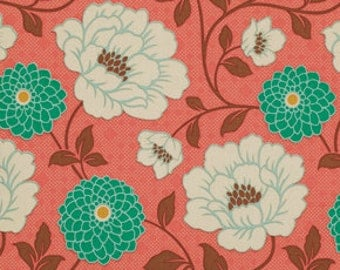 Half  yard - 1/2 yard - Joel Dewberry - Bungalow - Dahlia in Coral