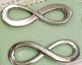 Infinity Connectors -25pcs antique silver 8 Shape Butterfly Charm Pendants 9x24mm