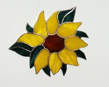 Sunflower Stained Glass, Ornament,Suncatchers
