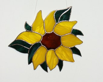 Sunflower Stained Glass, Ornament,Suncatchers