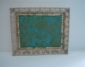 Cork board, beautiful vintage metal framed cork board