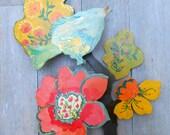 All seasons Bluebird of happiness wood wall sculpture by Kimberly Hodges, bluebird, wood art, bluebird of happiness, wall art, home decor