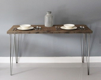 Dining Table w/ Hairpin Legs, Modern Table, Reclaimed Wood Furniture, Kitchen Table