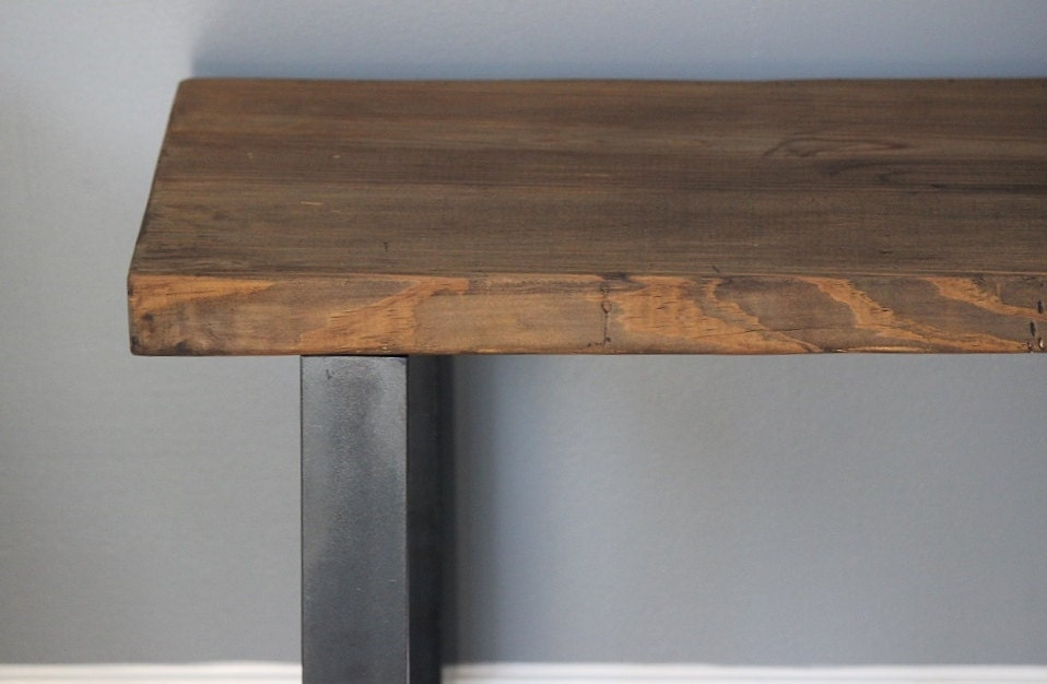Industrial Bench Reclaimed Wood And Steel Bench Dining By Dendroco