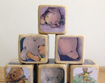 You Are My I Love You // Childrens Book Blocks // Natural Wood Toy