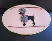 Sewing Basket by Princess Wicker Mid Century Poodle Sewing Basket With Accessories