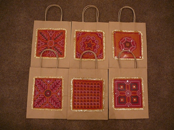 Traditional Indian Wedding Gifts: Gift Bags Indian Wedding Gift Bags Kraft Gift Bags Red