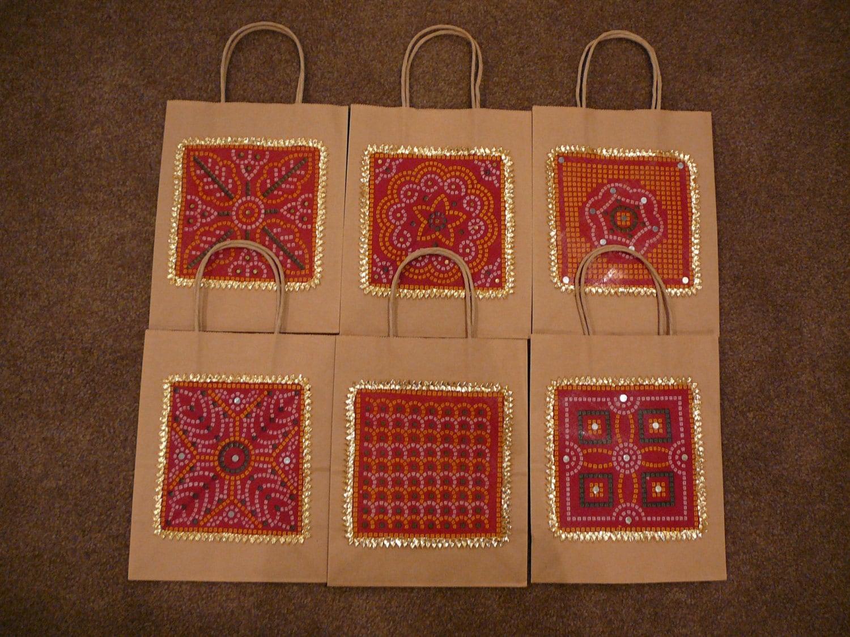 Hindu Wedding Gift Bags : Gift Bags Indian Wedding Gift Bags Kraft Gift Bags Red