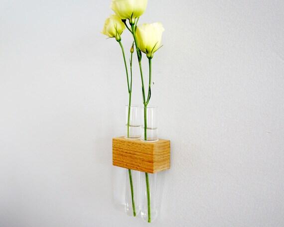 Hanging test tube flower bud vase for Test tube flower vase rack