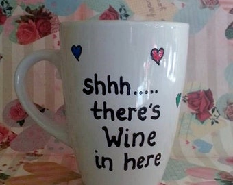 Humorous mug to hide your wine! Can be personalised if needed