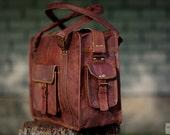 """Goat Leather Travel Bag 14"""" / Carry Bag / Messenger Bag / Cabin Travel Bag / Cross Body Bag / Handbag / Satchel / Shoulder Bag / Briefcase - EpicLinen"""