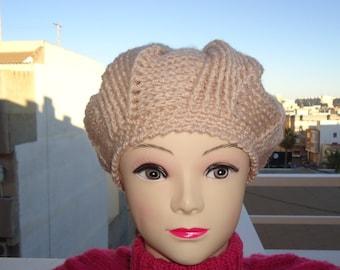 Handmade crocheted beret