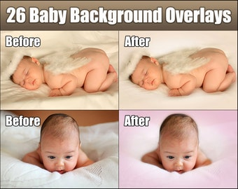 Photoshop Overlays - 26 Baby Background Backdrop Textures