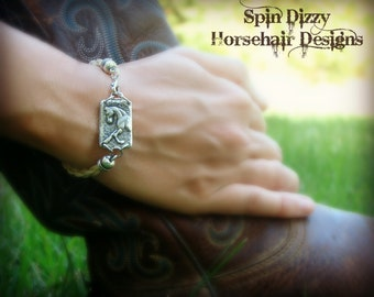 Classy Prancing Horse Horsehair Bracelet