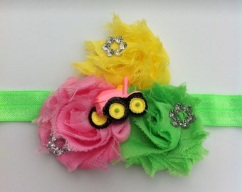 Girly John Deere headband, tractor lovers/ John Deere headband
