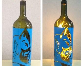 Duke wine bottle lamp