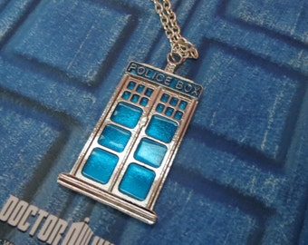 ONLY 1 LEFT!!! Doctor Who Tardis Silver Necklace