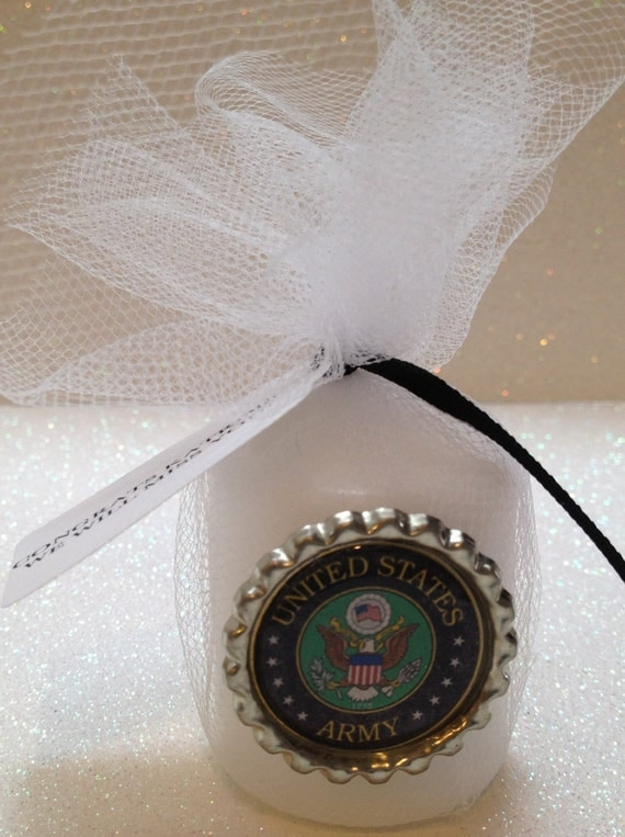 10 US Army Candle Favors Army Decorations By TotalBlissBoutique