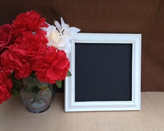 Decorative Chalkboard 10x10 - Decorative Framed Chalkboard - Great for Photo Props - Wedding Decorations - Chalk Board