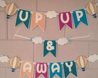 Up, Up, and Away-Hot Air Balloon Banner