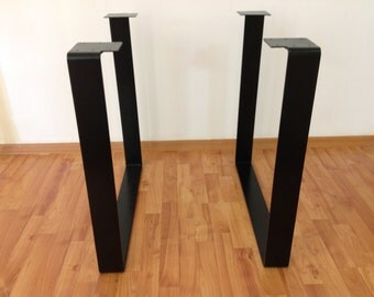 28 table legs flat steel square table legs powder coated set 2. Black Bedroom Furniture Sets. Home Design Ideas