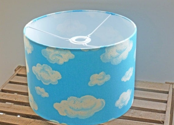 Items Similar To Cloud Ceiling Shade 30cm Drum Light