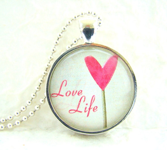 love life pendant necklace chain included love pendant art