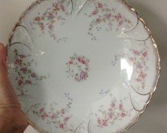Elegant Vintage German China Serving Bowl