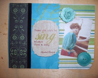Vintage Inspired Wish to Sing All Occasion Greeting Card