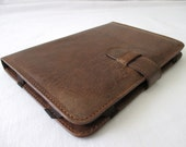 Leather iPad mini case / sleeve, cover, in dark cognac (fits ipad mini 2 and 1)