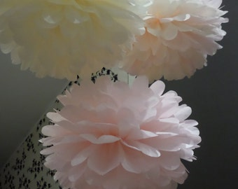 10 large  Tissue Paper Pom Pom- Party Decorations - Wedding Decorations - Pom Pom Decorations - Paper Balls - Christmas