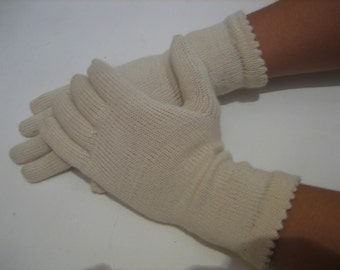 knitted mittens,Gloves Knitted White Accessory Woman