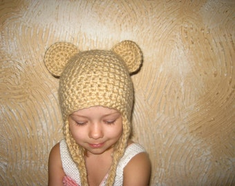 Hat for baby. Hat-bear.