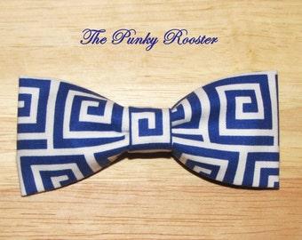 Cobalt Blue, Royal Blue Bow Tie, Clip on Bow Tie