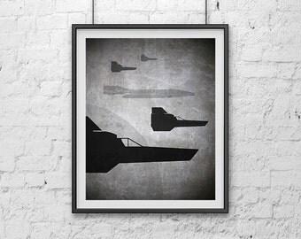 08-BSG Viper's On Patrol Battlestar Galactica Poster Print